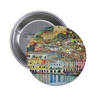 Malcesine on Lake Garda By Gustav Klimt 2 Inch Round Button