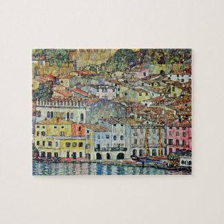 Malcesine on Lake Garda By Gustav Klimt Jigsaw Puzzle