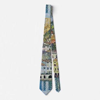 Malcesine on Lake Garda By Gustav Klimt Tie