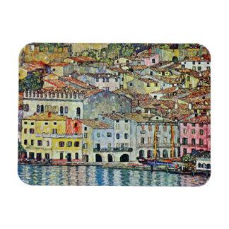 Malcesine on Lake Garda By Klimt, Art Nouveau Rectangular Photo Magnet