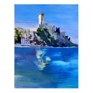 Malcesine with Castello Scaligero Postcard