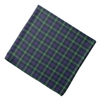 Malcolm Clan Dark Blue and Green Tartan Bandana