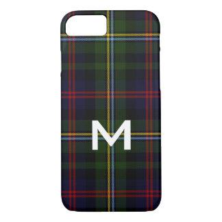 Malcolm Monogrammed Tartan Plaid iPhone 8 Case