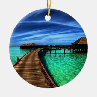 MALDIVES 2 ROUND CERAMIC ORNAMENT