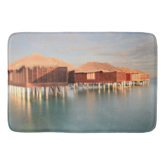Maldives Beach Bungalows Summer Sunrise Bath Mat