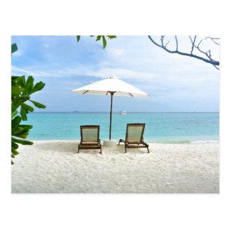 Maldives Beach Postcard