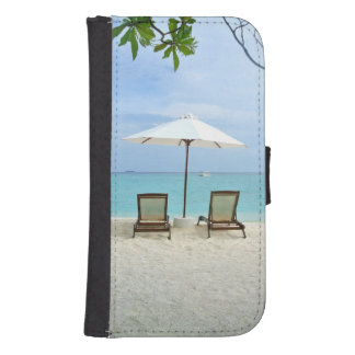 Maldives Beach Samsung S4 Wallet Case