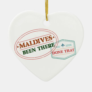 Maldives Been There Done That Ceramic Heart Ornament