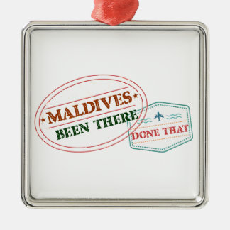 Maldives Been There Done That Silver-Colored Square Ornament