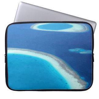 Maldives Blue Ocean White Sand Lagoons Laptop Computer Sleeve