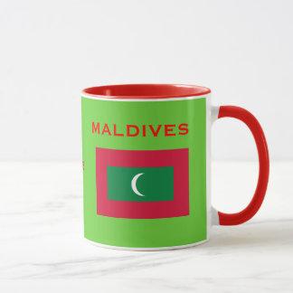 Maldives* Coat of Arms and Flag Mug