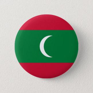 Maldives flag 2 inch round button