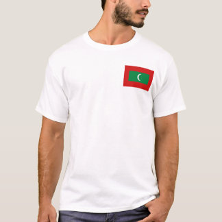 Maldives Flag and Map T-Shirt
