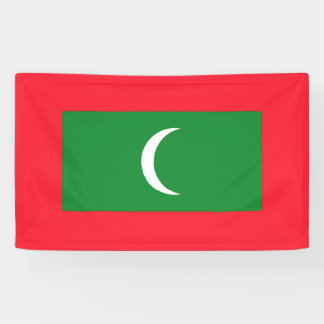 Maldives Flag Banner