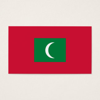 Maldives Flag Business Card