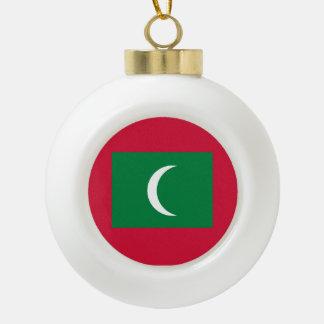 Maldives Flag Ceramic Ball Ornament
