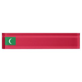 Maldives Flag Desk Name Plates