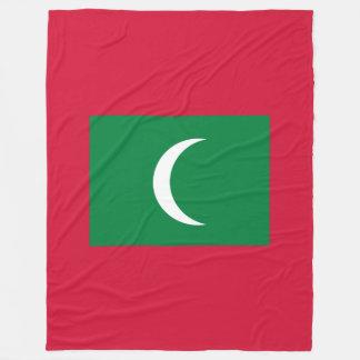 Maldives Flag Fleece Blanket