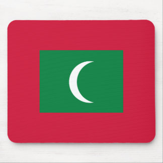 Maldives Flag Mouse Pad