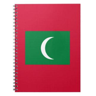 Maldives Flag Notebooks