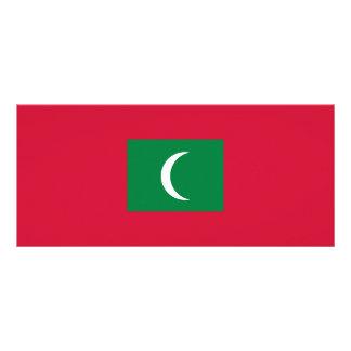 Maldives Flag Rack Card Design