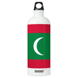 Maldives Flag Water Bottle