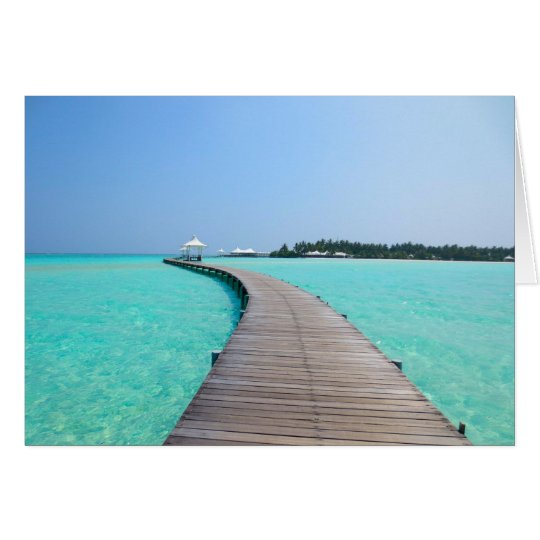 Maldives greeting card