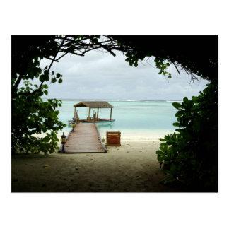 Maldives Island Boat Postcard
