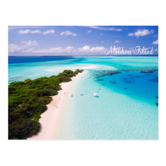 Maldives island romantic holiday by storeman. postcard