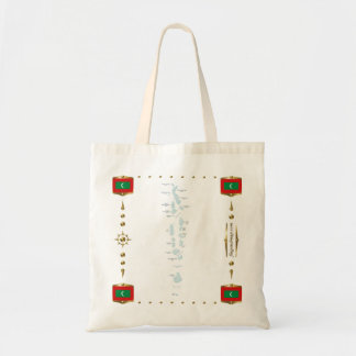 Maldives Map + Flags Bag