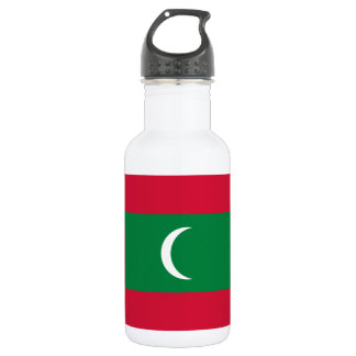 Maldives National World Flag 532 Ml Water Bottle