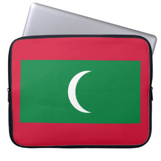Maldives National World Flag Laptop Computer Sleeve