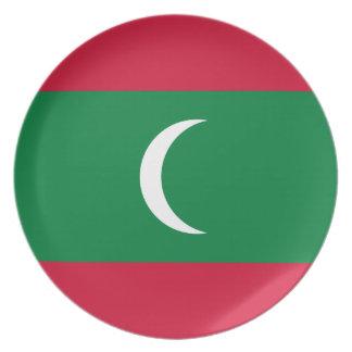 Maldives National World Flag Plate
