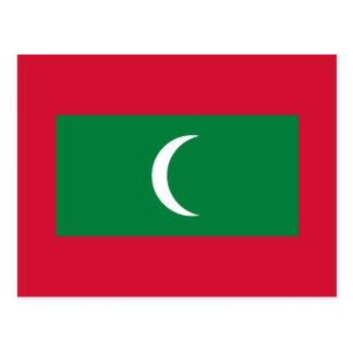Maldives National World Flag Postcard