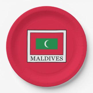 Maldives Paper Plate