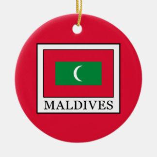 Maldives Round Ceramic Ornament
