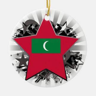 Maldives Star Round Ceramic Ornament