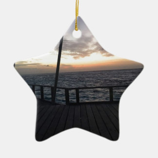 Maldives Sunset Ceramic Star Ornament
