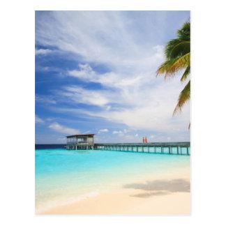 Maldivian escape postcard