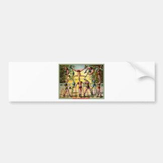 Male Acrobats Bumper Sticker