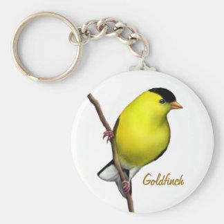 Male American Goldfinch Bird Keychain