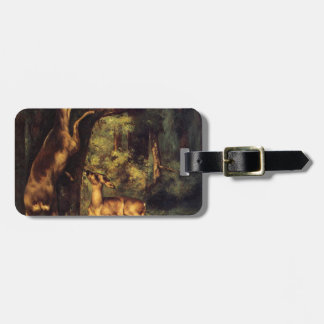 Male and Female Deer in the Woods by Gustave Courb Bag Tag