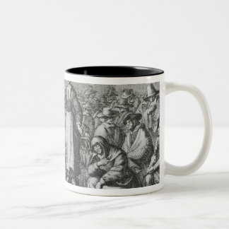 Male and Female Quakers at their Assembly Two-Tone Coffee Mug
