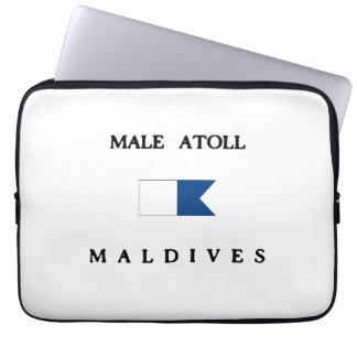 Male Atoll Maldives Alpha Dive Flag Laptop Sleeve