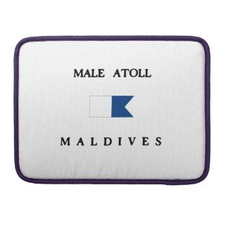 Male Atoll Maldives Alpha Dive Flag Sleeve For MacBooks