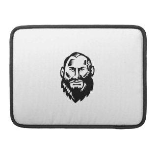 Male Big Beard Woodcut Sleeve For MacBook Pro