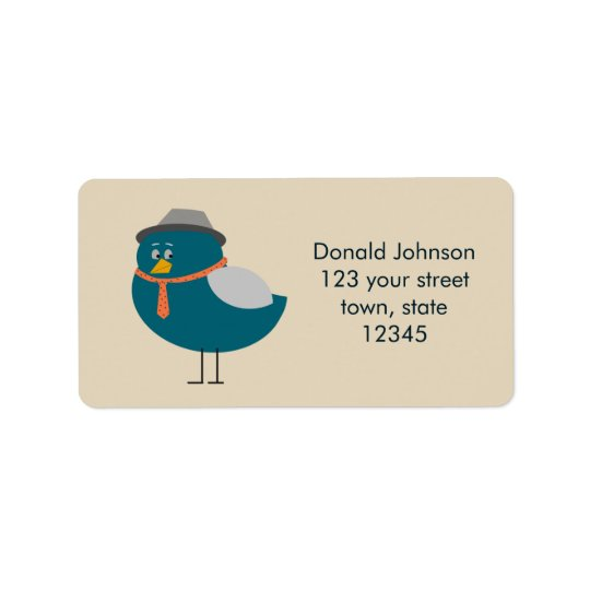 Male Bird Funny Hat Tie Retro Cute Cartoon