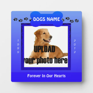 Male Blue Dog Memorial Photo Plaques