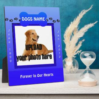 Male Blue Dog Memorial Plaques