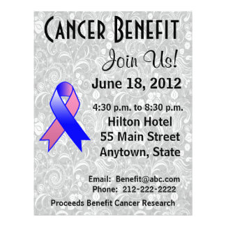 Male Breast Cancer Awareness Benefit  Floral Flyer